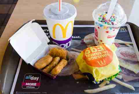 meal at McDonalds