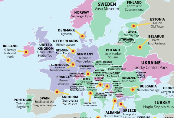 This Map Shows Every Country's Most Popular Tourist Attraction