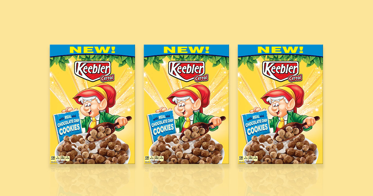 Keebler Cereal Now Has Real Chocolate Chip Cookies - Thrillist