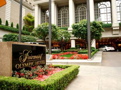 Terrace Lounge at the Fairmont Olympic Hotel Seattle