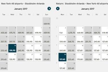 cheap flights to Sweden
