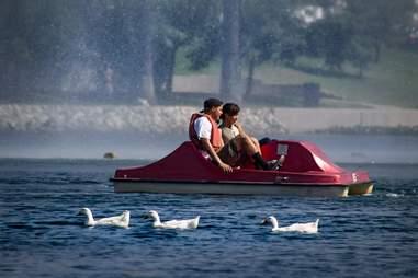 Echo Park Lake Pedal Boats Canoe & Gondola