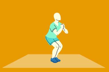 narrow leg squat