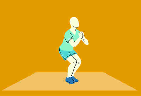 narrow leg squat