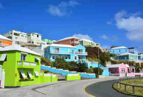 bermuda colorful houses