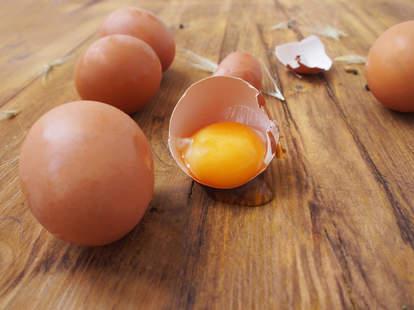 two egg yolks