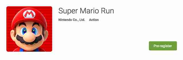 super mario run on google play store