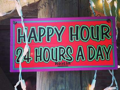 24 hour happy hour sign