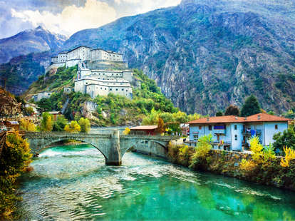 Castles of Valle d'Aosta, Italy