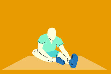 seated hamstring stretch