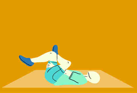 supine figure 4 stretch