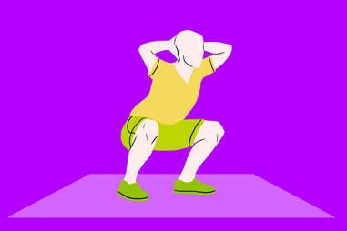 prisoner squats