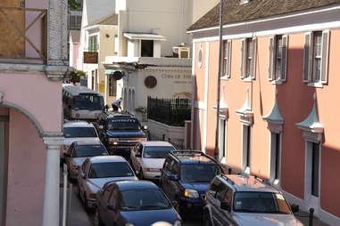 Caribbean traffic jam