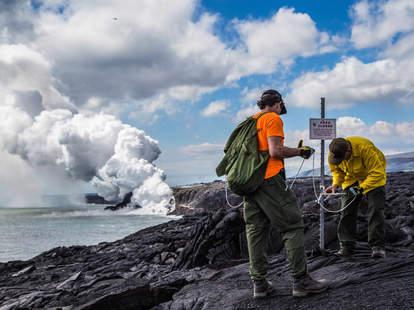 22 acre lava delta collapse hawaii national park