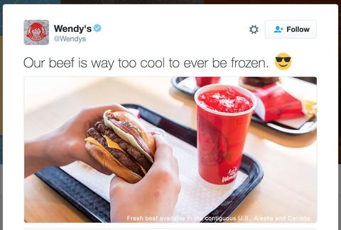 wendy s owns twitter troll who attacked its fresh never frozen