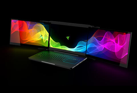 Razer Project Valerie laptop with three screens