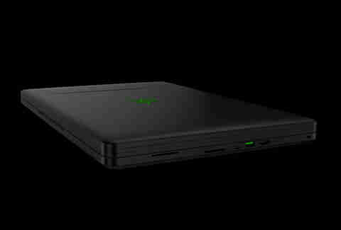 Razer Project Valerie laptop with three screens closed