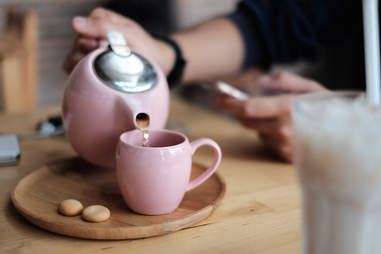 tea in a tea pot
