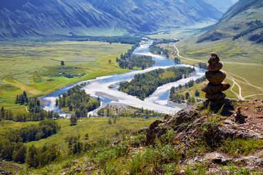 Stone Pyramid Altai Mountains