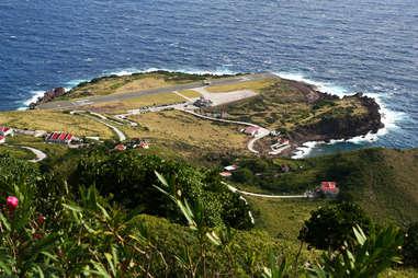 Saba runway