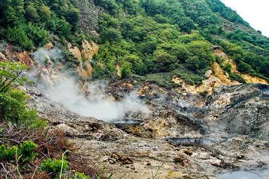 Sulfur springs mud bath St. Lucia