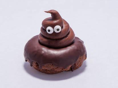 poop emoji donut