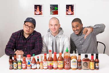 hot sauces little bottles