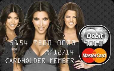 Kardashian Kard debit card