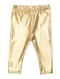 kardashian kids gold metallic leggings