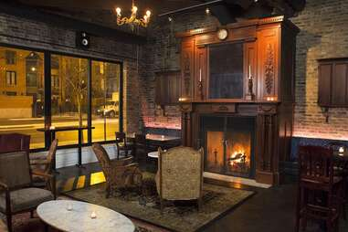 Old Town Social fireplace chicago