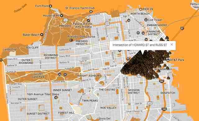Human Wasteland Map Plots All Of San Francisco S Poop Thrillist