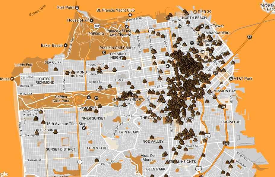 Human Wasteland Map Plots All of San Franciscos Poop Thrillist