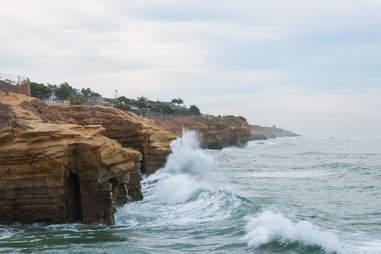 Rainy San Diego Beach
