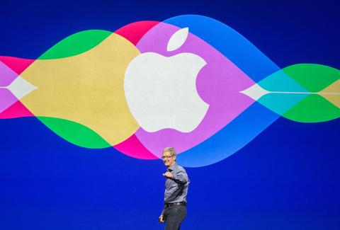 tim cook on stage
