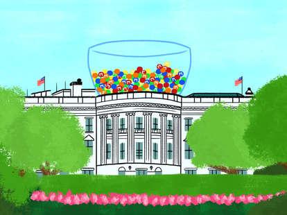 white house M&Ms