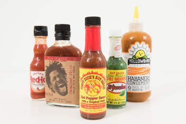 the many hot sauce options
