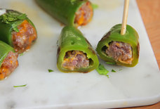 Bratwurst-Stuffed Jalapeños Are Spicy Snack Inception
