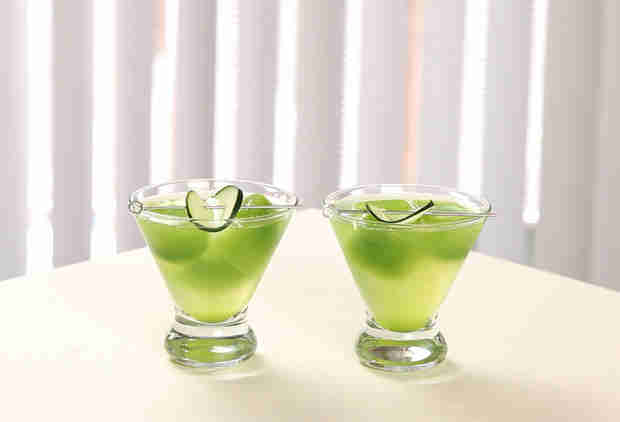 Your Next Martini Needs Sake and Cucumber Ice Cubes