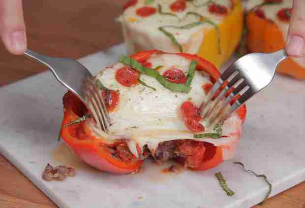 Pizza-Stuffed Bell Peppers Are the Best Reason to Eat Your Vegetables