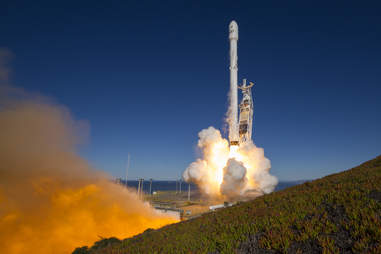 SpaceX Rocket During Launch