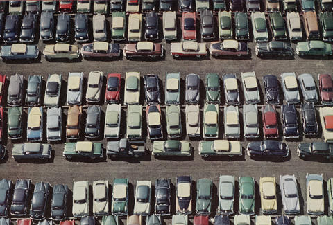 parking lot in the 50s