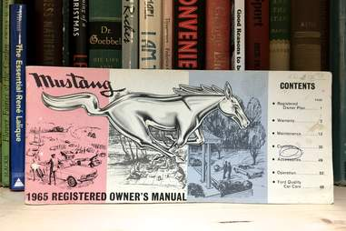 First Generation Mustang Owner's Manual