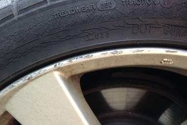 Eroding tire