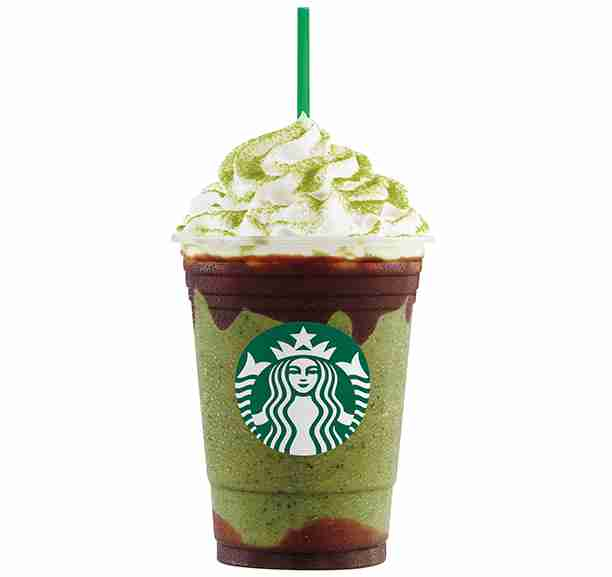 double chocolate green tea frappuccino
