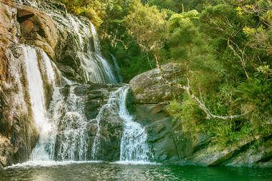 Baker's Falls, Horton Plains National Park, Ohiya, Sri Lanka
