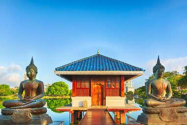 Seema Malaka temple on Beira Lake, Colombo, Sri Lanka