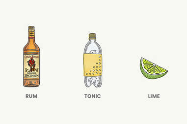 Rum and Tonic Cocktail - Made With Captain Morgan - Supercall