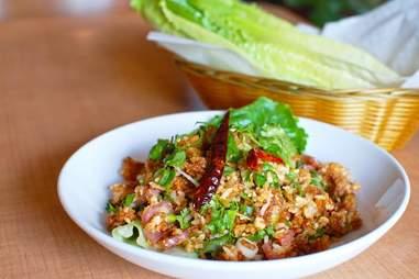 crispy rice from Thip Khao