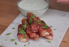 Sweet and Spicy Bacon-Wrapped Chicken Tenders, for All Your Multifaceted Cravings