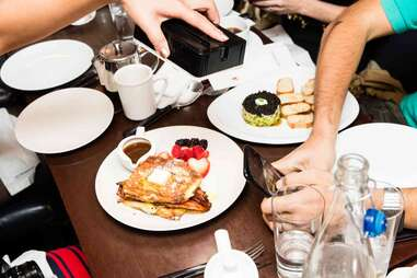 photographing brunch